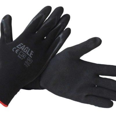 56347f4f902 Gloves Nylon with Black Nitrile Palm - EN388  4121 Large