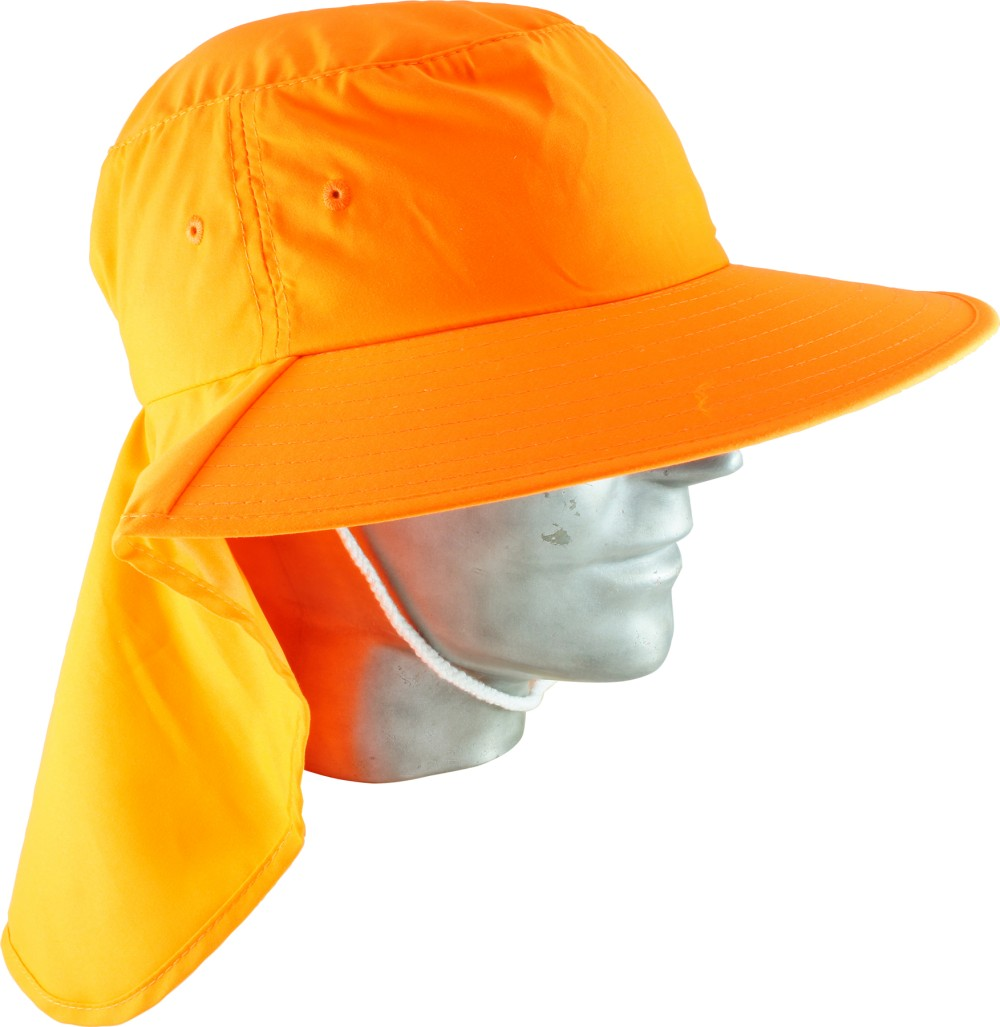 0b013eddd7b Broad Brim Hat with Neck Flap - orange - Minebox