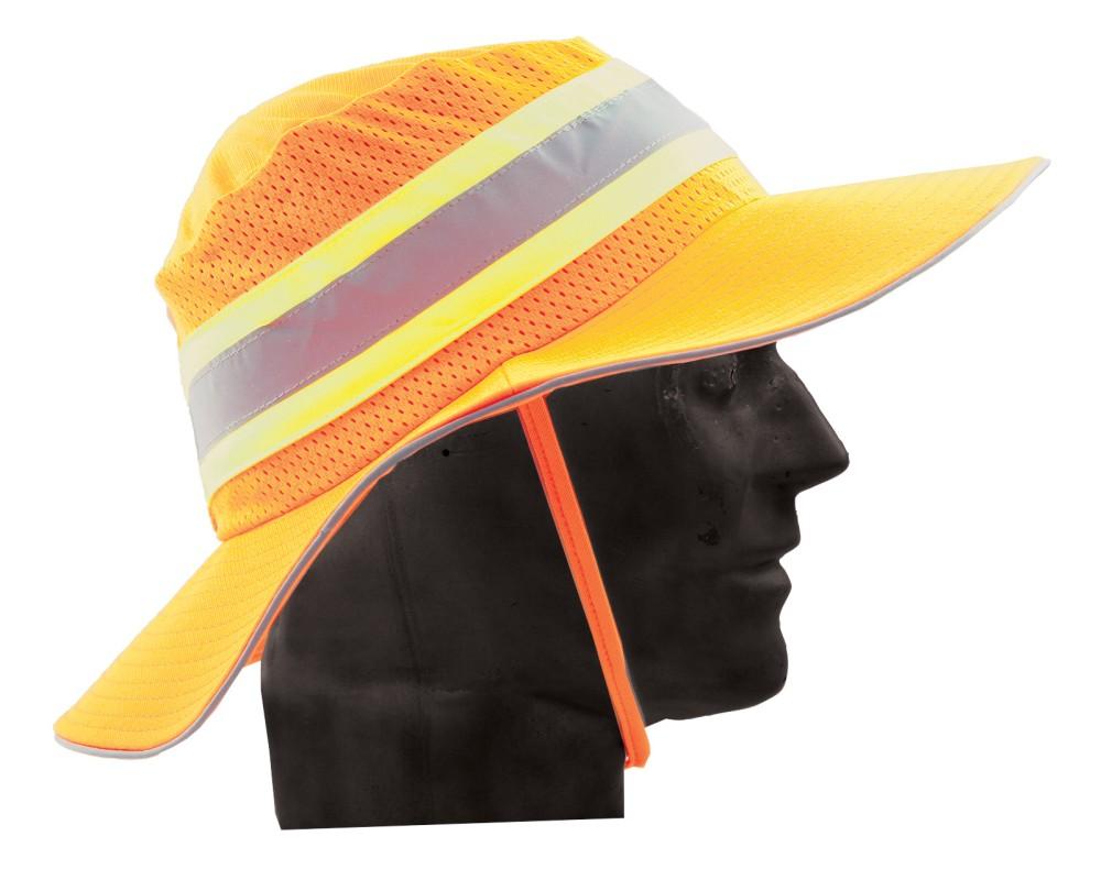 59967bb694b Wide Brim Hat - Neon Orange Large XL - Minebox