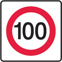 Vehicle & Truck Identification Signs - 100 Speed Limit Sign