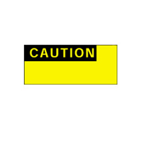 Caution - H38mm x W15mm - Black/Yellow