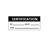 Certification By Date Due - H38mm x W15mm - Black/White