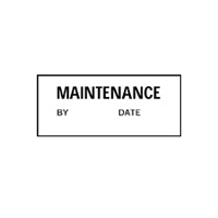 Maintenance By Date - H38mm x W15mm - Black/White