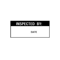 Inspected Date Initials - H38mm x W15mm - Black/White