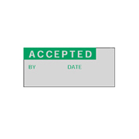 Accepted By Date - H15mm x W38mm - GREEN/SILVER