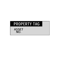 Property Tag.. - H15mm x W38mm - BLACK/SILVER