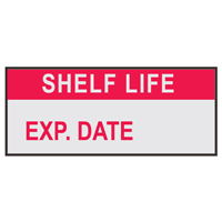 Life Exp# - H15mm x W38mm - RED/SILVER