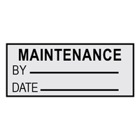 Maintenance By.. - H15mm x W38mm - BLACK/SILVER