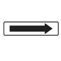 Directional Sign - H180mm x W400mm - Self Adhesive Vinyl - Arrow Right White