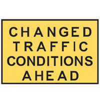 Temporary Traffic Control Sign - Changed Traffic Conditions Ahead - H900mm x W1200mm