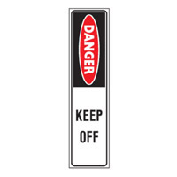 Bounce Back Warning Post - Danger Keep Off SignRed/White/Black - H300mm x W75mm