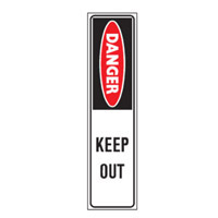 Bounce Back Warning Post - Danger Keep Out SignRed/White/Black - H300mm x W75mm