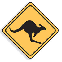 Regulatory Traffic Sign - Kangaroo Symbol - H600mm x W600mm