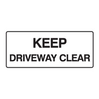 Building Site Sign - H180mm x W450mm - Polypropylene - Keep Driveway Clear