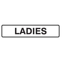 Door Sign - H45mm x W200mm - Self Adhesive Vinyl - Ladies