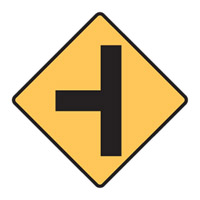 Regulatory Traffic Sign - Left Sign T Junction Symbol - H600mm x W600mm