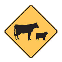 Stock Crossing Sign - Live Stock Symbol - H600mm x W600mm