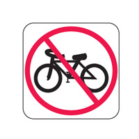 Traffic Sign - Directional - No Bicycles - H450mm x W450mm