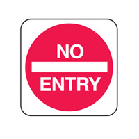 Traffic Sign - Site Safety - No Entry - H750mm x W750mm