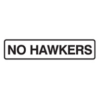 Door Sign - H45mm x W200mm - Self Adhesive Vinyl - No Hawkers