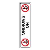 Bounce Back Warning Post - No Smoking SignRed/White/Black - H300mm x W75mm
