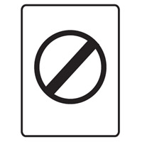 Traffic Sign - Speed Limit - No Speed Limit Symbol - H800mm x W600mm
