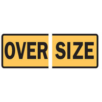 Vehicle & Truck Identification Signs - Oversize - Split Sign