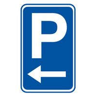 Parking Sign - Parking Picto Left - H750mm x W450mm