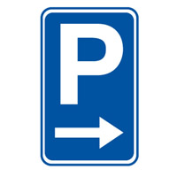 Parking Sign - Parking Picto Right - H750mm x W450mm