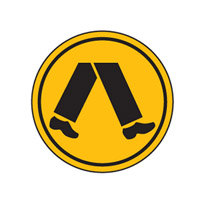 Traffic Sign - Site Safety - Pedestrian Crossing Symbol - 600mm Diameter
