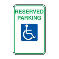 Accessible Sign - Reserved Parking - H250mm x W180mm