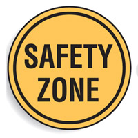 Regulatory Traffic Sign - Safety Zone - 600mm Diameter