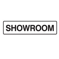 Door Sign - H45mm x W200mm - Self Adhesive Vinyl - Showroom