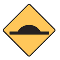 Regulatory Traffic Sign - Speed Hump Symbol - H600mm x W600mm