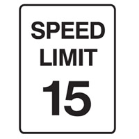 Traffic Sign - Speed Limit - Speed Limit 15 - H250mm x W180mm