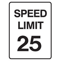 Traffic Sign - Speed Limit - Speed Limit 25 - H250mm x W180mm