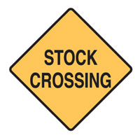 Stock Crossing Sign - Stock Crossing - H600mm x W600mm