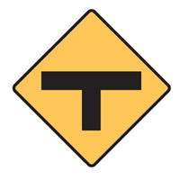 Regulatory Traffic Sign - T Junction Symbol - H600mm x W600mm