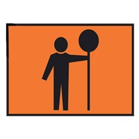 Temporary Traffic Control Sign - Traffic Controlller - H600mm x W900mm