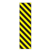 Bounce Back Warning Post - Yellow/Black Stripes SignYellow/Black - H300mm x W75mm